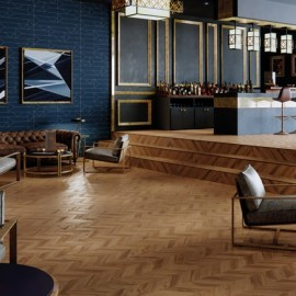 Polyflor Expona Commercial Wood Golden Chevron Parquet